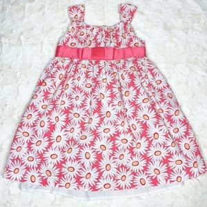 George Flower Dress Pink White Floral Size 5 Girls